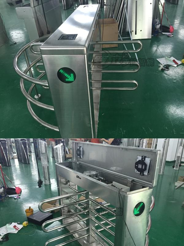 304SUS Anto gates barrier gate waist height turnstile Automatic Road Traffic controlled access turnstile entrance gates