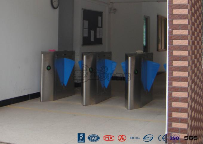High End Flap Barrier Gate / Flap Barrier Turnstile Attendance For Entrance Control