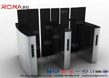 China Access Control Turnstile Security Gates Tempered Glass Sliding Material supplier