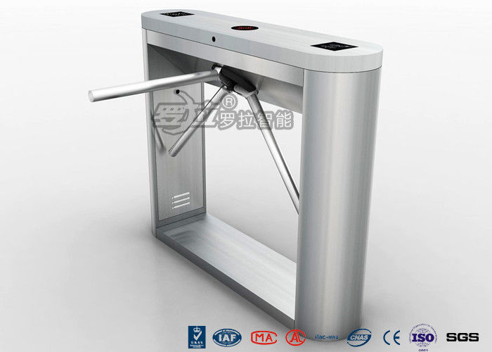 Bi directional tripod turnstile gate security half