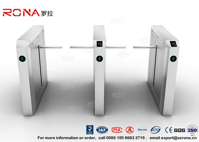 Drop Arm Turnstile 13.56Mh RFID Durable Security Pedestrian Barrier Gate Drop Arm For Public Facility
