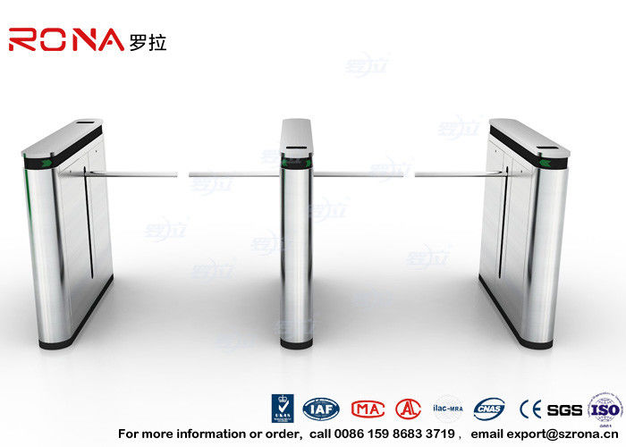 304 SS ID / IC Cards Emergency Security Drop Arm Turnstile Access Control