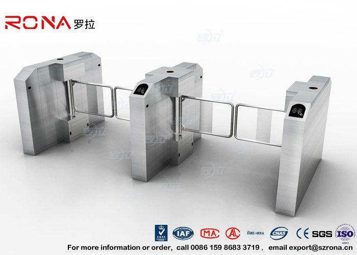 Fingerprint Entrance Swing Barrier Gate Stainless Steel For
