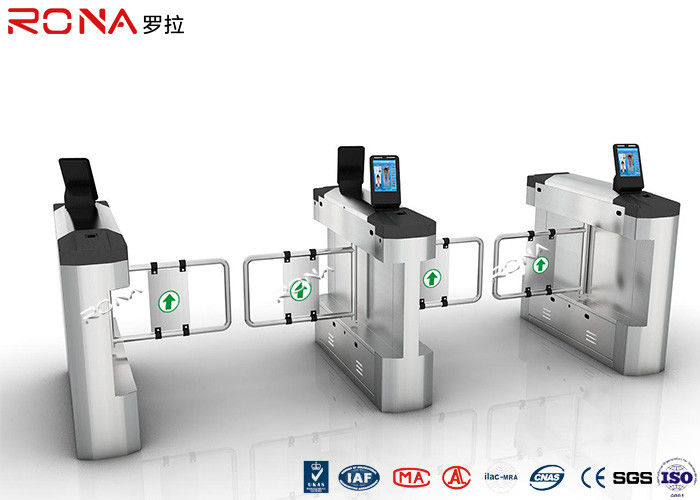 Single / Bi Directional Swing Gate Turnstile High Speed With Face Recognition