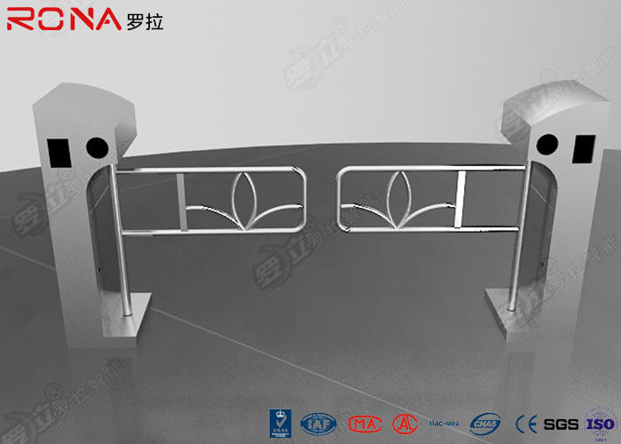 Access Optical Swing Gate Turnstile Controlled Acrylic / Tempered Glass Arm Material