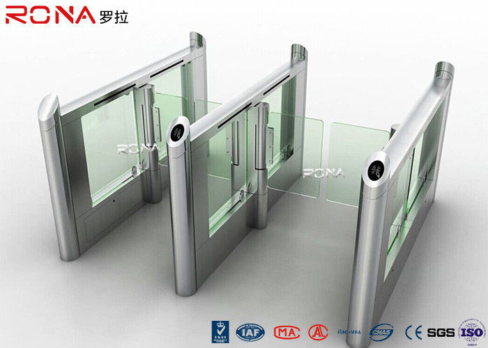 Stainless Steel Fingerprints Turnstile Entrance Gates Simple Appearance High Speed