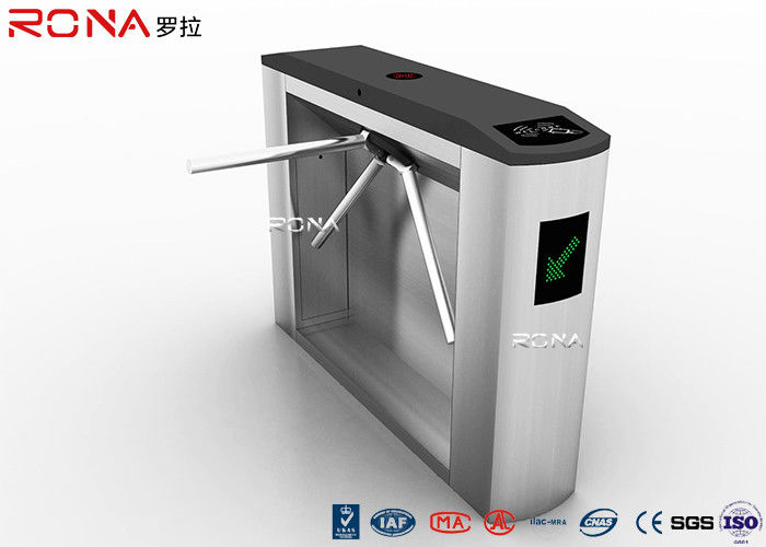 Electronic Tripod Turnstile Gate Security Access Control System Adjustable Opening Time