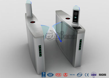 Fingerprint Flap Barrier Turnstile Half Height Security 304 Stainless Steel