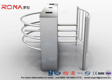 China Semi Automatic Waist Height Turnstiles Entrance IC/ID Card Access Control AC220V factory