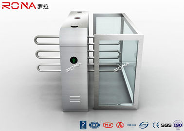China Security Solution Waist High Turnstil Assured Stainless Barrier With Metal Wings factory