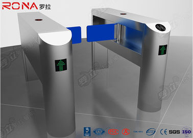 China Single Pole Half Height Turnstile , Pedestrian Turnstile Gate With Card Reader factory