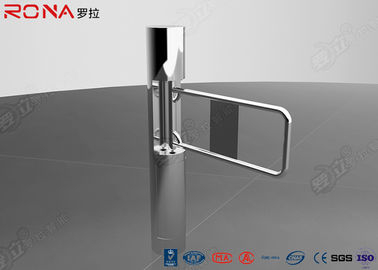 China Pedestrian Access Control Security Swing Gate Turnstile With Glass / Acrylic Arm factory