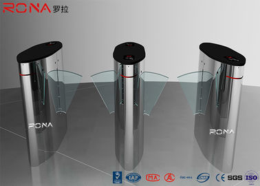 China Turnstile Flap Barrier Gate Barcode Scanner Electronic 304 Stainless Steel Material factory