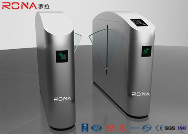 China Smart Security Entrance Flap Barrier Gate With Fingerprint Reader Counter factory