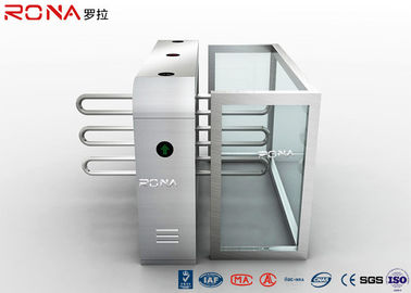 China Metal Wings Waist High Turnstile Assured Barrier 304 Stainless Steel Material factory