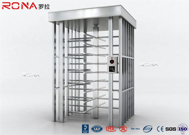 Auto Security Full Height Turnstile Pedestrian System 30 Persons / Minute Speed