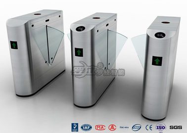 China Auto Retractable Entrance Waist High Turnstile With Face Recognition / Card Reader factory