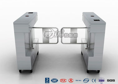 China Access Control Swing Gate Turnstile Controlled Acrylic / Tempered Glass Arm Material factory