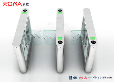China High Speed Card Reader Pedestrian Security Gates Access Control With Acrylic Swing Arm factory