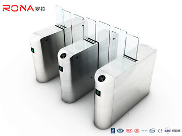 Electronic Security Sliding Turnstile Gate Full Height SUS304 Material RFID Card Reader