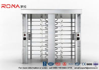 Security Controlled Full height Turnstile Security Gates Rapid Identification with Double Door with RFID Card