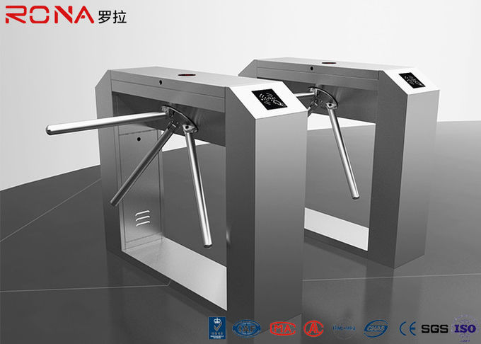Bridge Type Pedestrian Security Gates RFID Flap Barrier Turnstile Fingerprint Reader